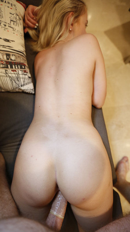 Second Date Porn of blonde getting fucked from behind POV style