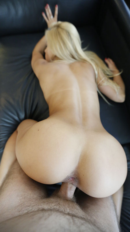 Blonde girl, Agnus, bent over, penetrated and fucked from behind in this doggie style Vacation Porn